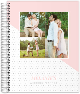 Soft Blush Polka Dot Photo Custom Wedding Planner