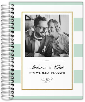 Classic Mint and Gold Frame Custom Wedding Planner