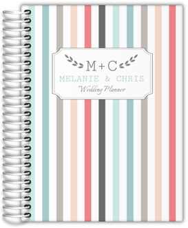 Colorful Pinstripe Custom Wedding Planner