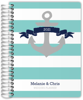 Aqua and Navy Nautical Anchor Custom Wedding Planner