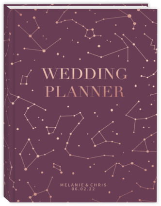 Rose Gold Constellations Wedding Planner