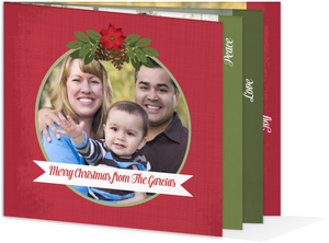 Christmas Floral Holiday Photo Card