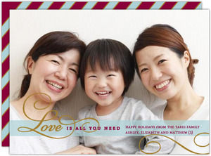 Love Is All You Need Holiday Photo Card