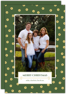 Festive Gold Jingle Bells Christmas Photo Card