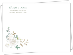 Floral White Garden Custom Envelope