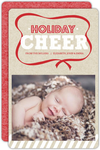 Christmas Ribbon Christmas Photo Card