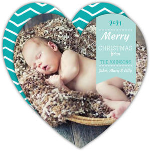 Happy Holidays Heart Christmas Photo Card