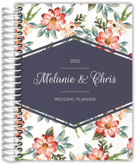 Delicate Watercolor Floral Custom Wedding Planner