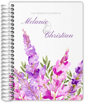 Watercolor Lilac and Greenery Wedding Planner