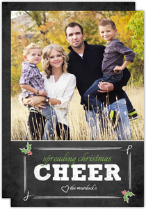 Chalkboard Cheer Christmas Photo Card