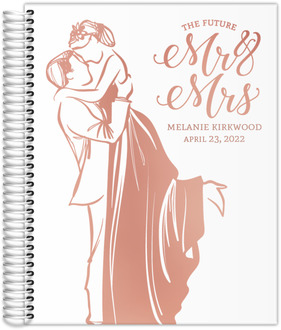 Modern Illustration Rose Gold Foil Wedding Planner