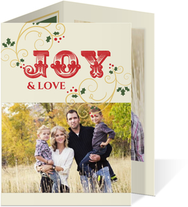 Wrapped In Joy  Christmas Photo Card