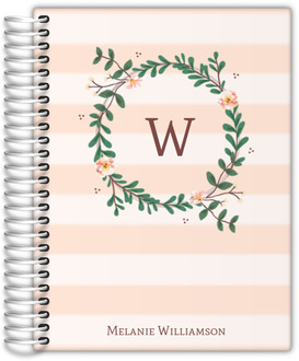 Floral Monogram Custom Wedding Planner