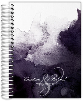 Dark Watercolor Stain Wedding Planner