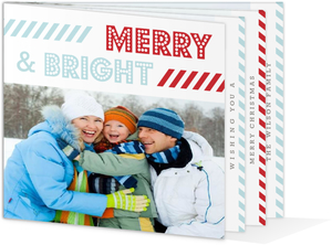Modern Stripes Christmas Booklet Card