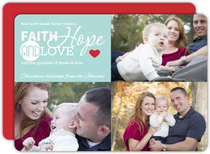 Faith Hope and Love Christmas Photo Card