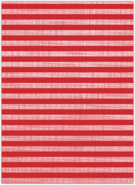 Red Linen Striped Multiphoto Christmas Card