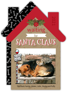 Waiting for Santa Pet Christmas Photo Card
