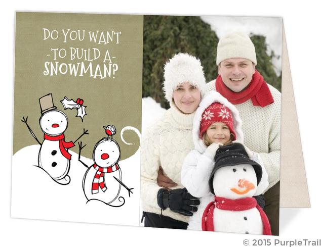 Build a Snowman Christmas Photo Card