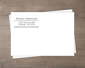 Simple Black Lines Custom Envelope