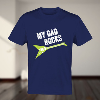 My Dad Rocks Guitar T-shirt