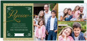 Gold Rejoice Photo Christmas Card