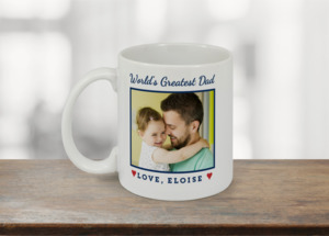 Worlds Greatest Dad Photo Custom Mug