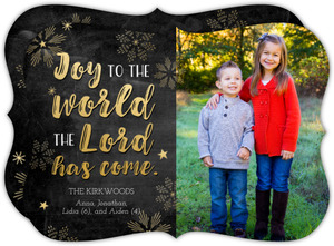 Joyful Snowflakes Christmas Photo Card