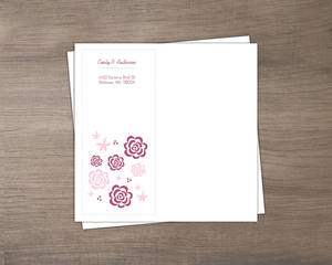 Pink And Plum Whimsical Flowers Envelope