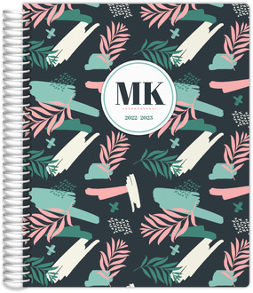 Artsy Green Pattern Teacher Planner