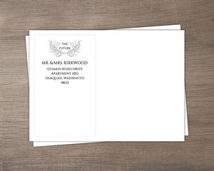 Wild Leaf Monogram Wedding Envelope
