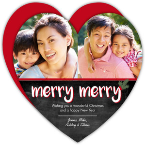 Chalkboard Heart Christmas Photo Card