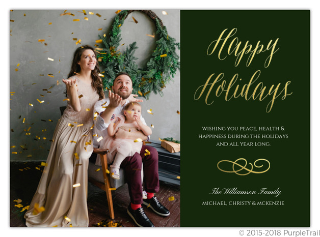 Seasonal Lights Christmas Photo Card