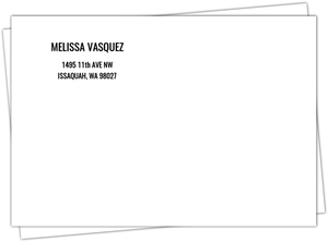 Simple Typography Envelope