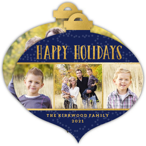 Family Photo Trio Christmas Card