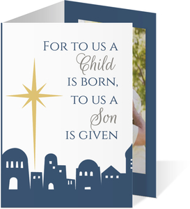 Bethlehem Christmas Photo Card