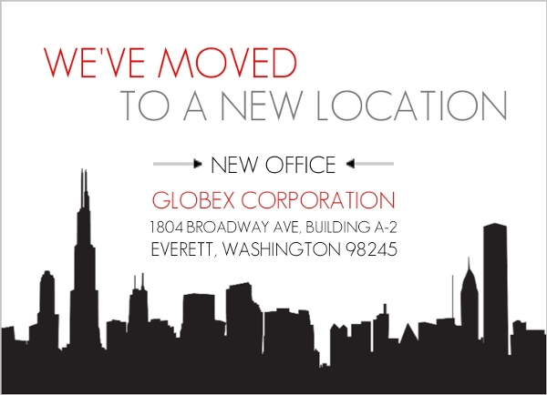 city new office business moving announcement