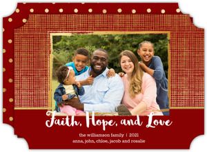 Faith Hope Love Christmas Photo Card