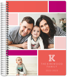 Colorblock Photo Family Planner