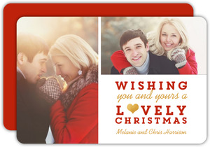 Lovely Xmas Photo Card