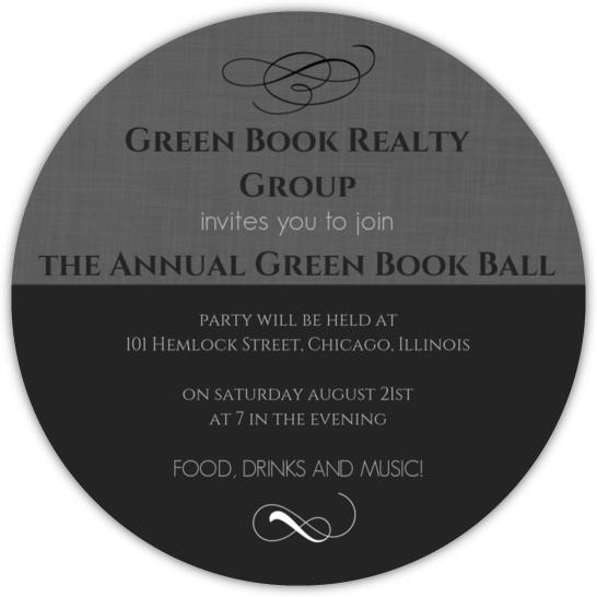 Ball Celebration Corporate Event Invitation