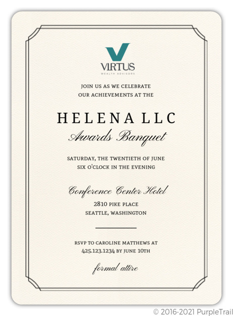 Formal Double Frame Corporate Event Invitation