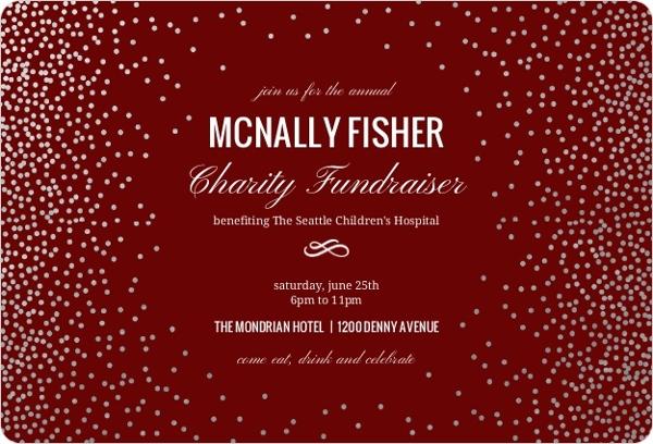 silver confetti foil frame corporate event invitation business