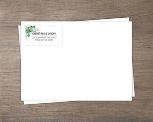 Modern Greenery Decor Custom Envelope