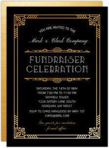 Golden Great Gatsby Corporate Event Invitation