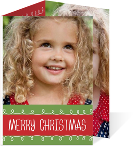 Christmas Doodle Christmas Photo Card