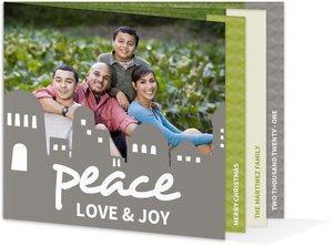 Peaceful Bethlehem Christmas Photo Card
