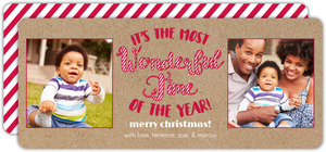 Candy Cane Christmas Photo Cards