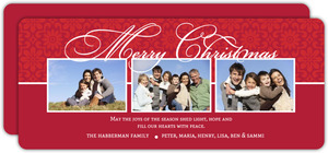 Elegant Script Christmas Photo Card