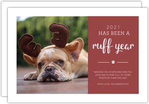 Ruff Year Pet Photo Holiday Card